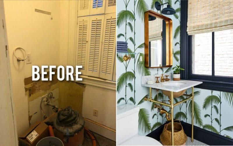 鼓舞人心的浴室改造了18新利在线下载想法和转型之前和之后