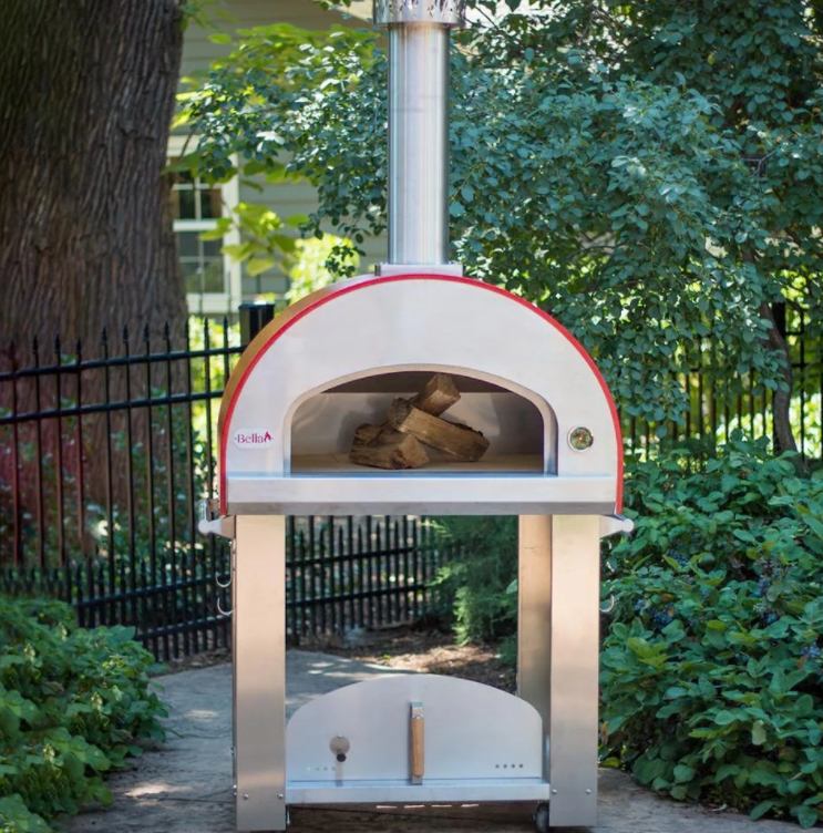 Bella Grande 32-Inch Outdoor Wood-Fired Pizza Oven On Cart