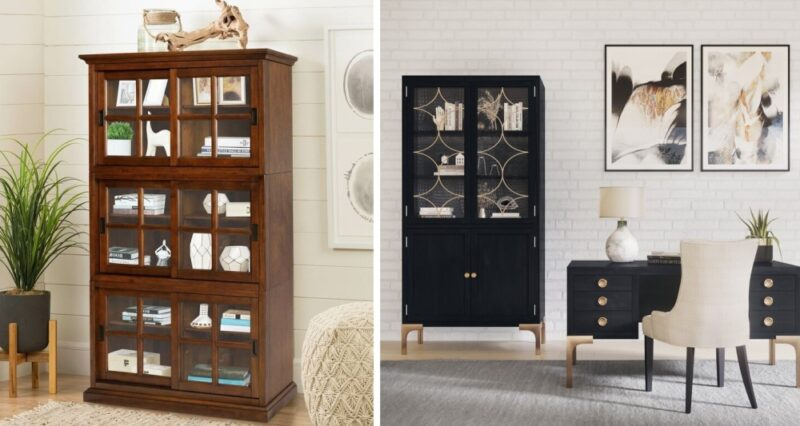 Stylish Bookcase with Doors To Fit Any Budget Or Space