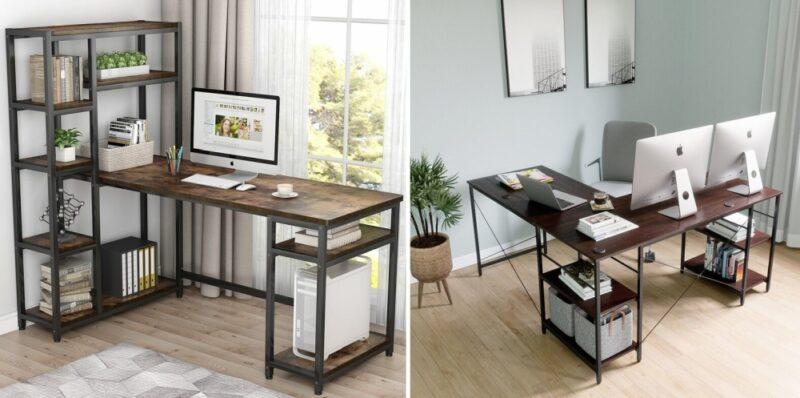 10个最时尚和功能的书桌,书架思想