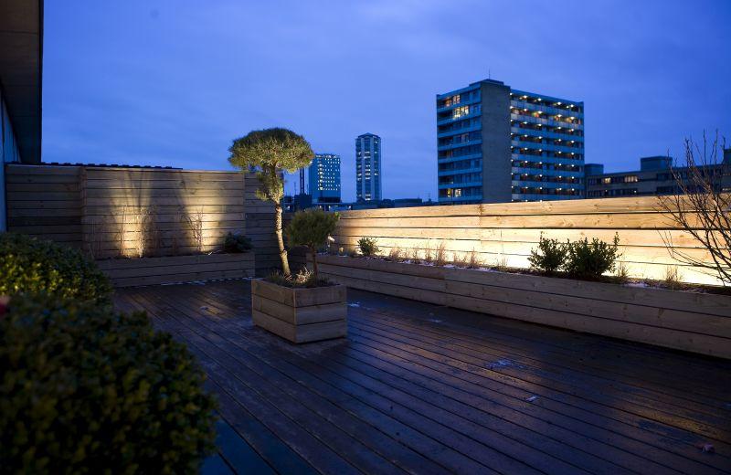 Rooftop decks are often spectacular