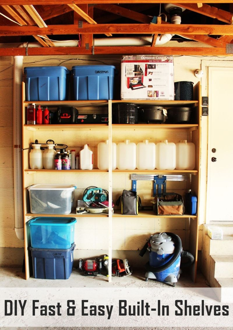 How To Build Garage Wood Shelves That Are Practical And User-Friendly