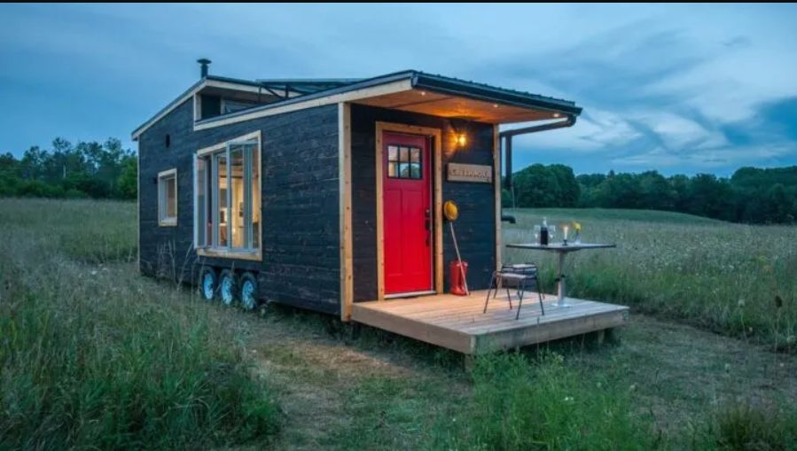 This tiny house was built on a 30' trailer and can be transported to virtually any location