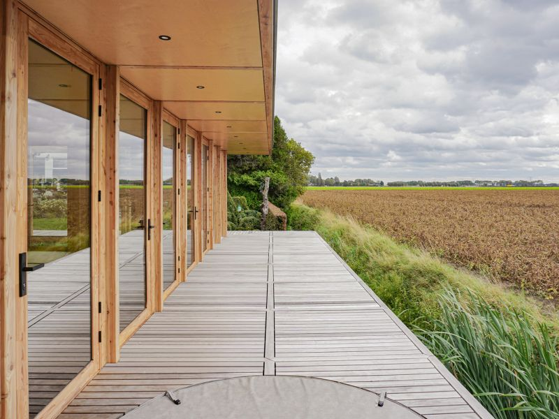 A small decks can be a strategic way to preserve the landscape