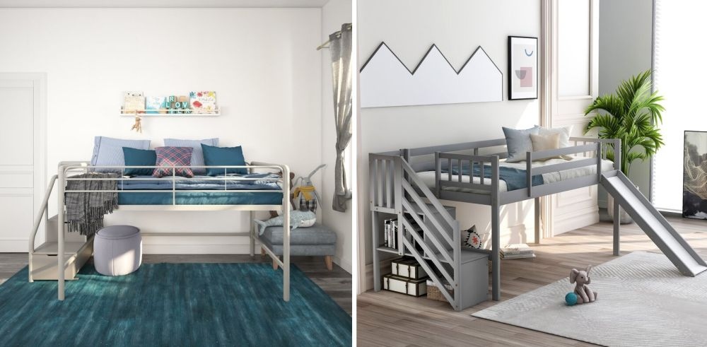 loft bed with stairs