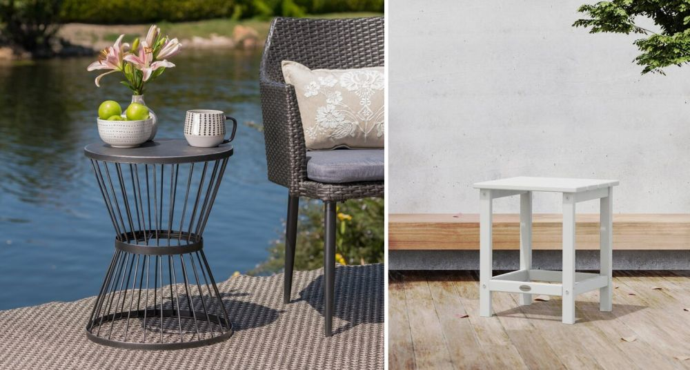 modern outdoor end tables