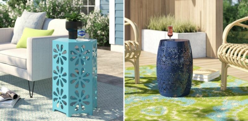 12 Amazing Ideas for Outdoor End Tables To Spruce Backyard Setup