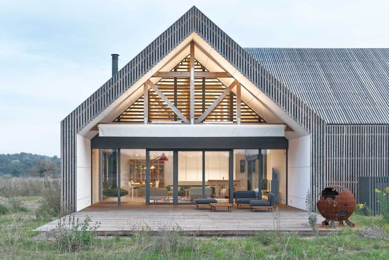 This design allows the deck to fit in organically