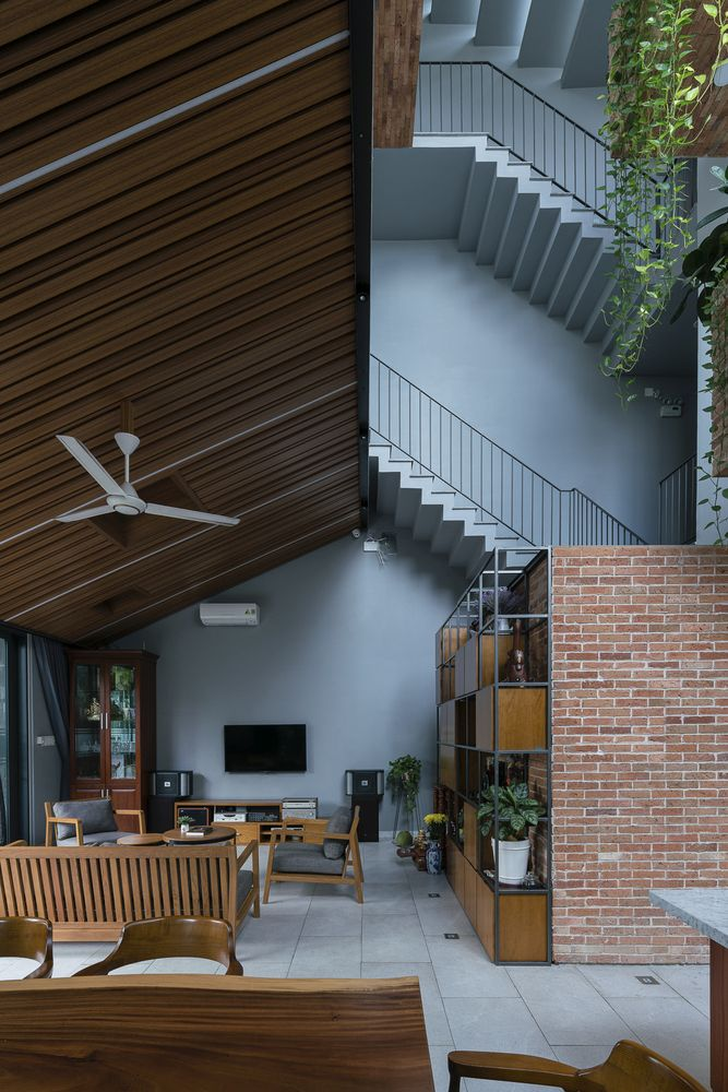 The interior is structured into multiple levels connected by staircases, each with a twist and a unique layout