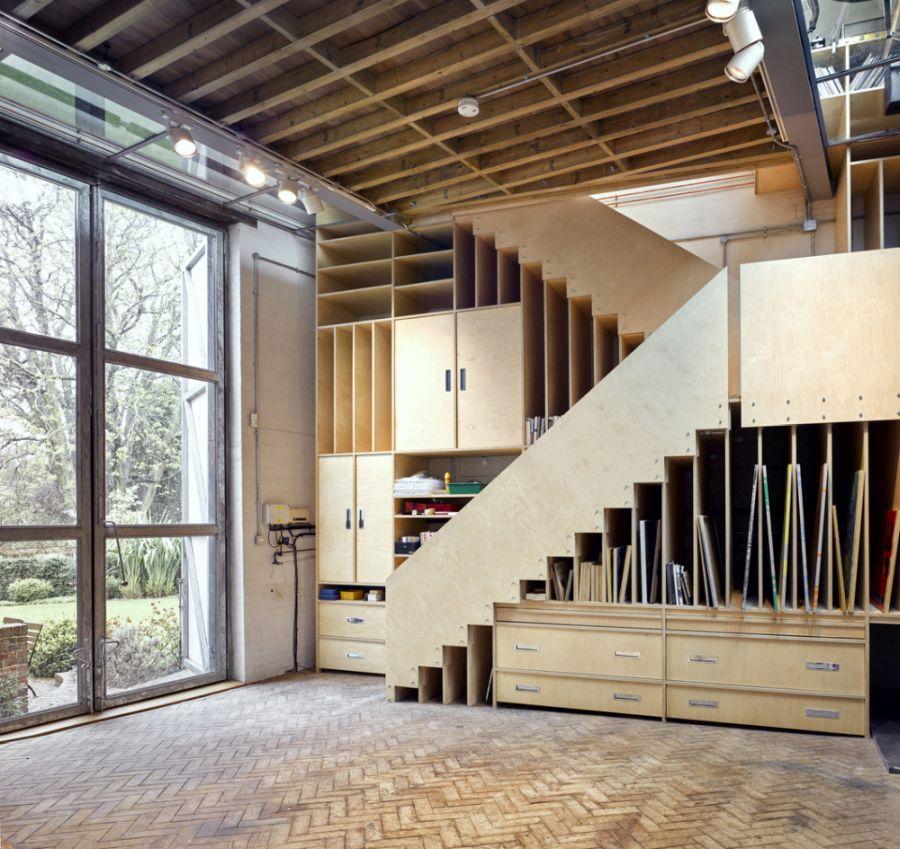 Storage under the staircase