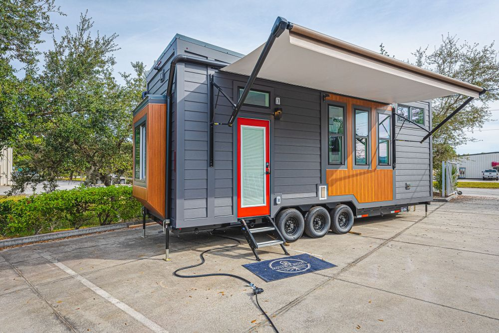 This is a house on wheels which the owners plan to take on many travels together with their beloved cats