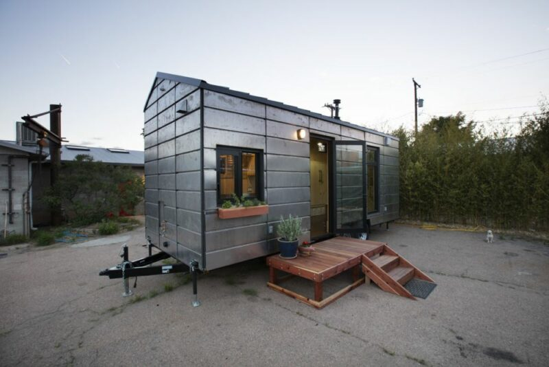 The SaltBox Tiny House Has A Cozy Interior Paired With A Steel Exterior shell