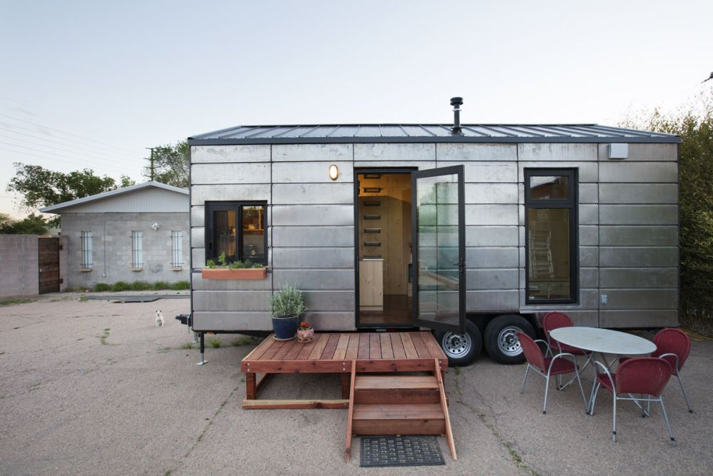 When the house is parked the area outside can become an extension of its limited footprint