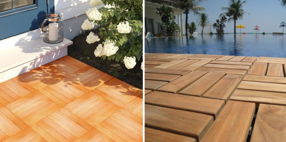These Wood Deck Tiles are Absolutely Stunning On Your Patio