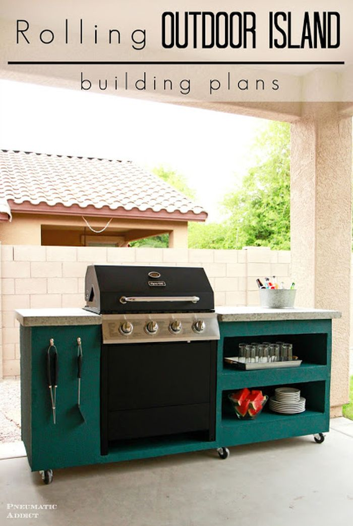 Great Plans For The Backyard Diy Grill Station Designs And Ideas