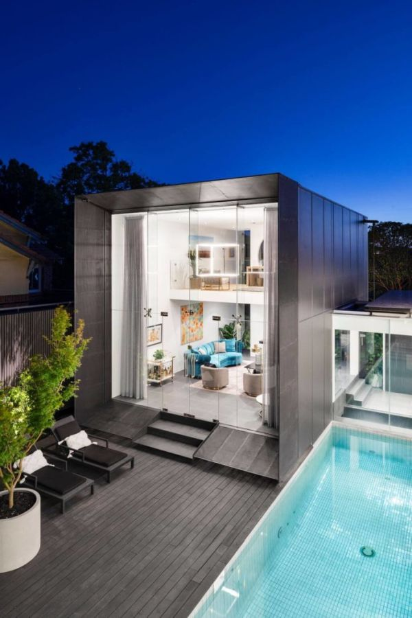 A small backyard can be big enough for a pool and more