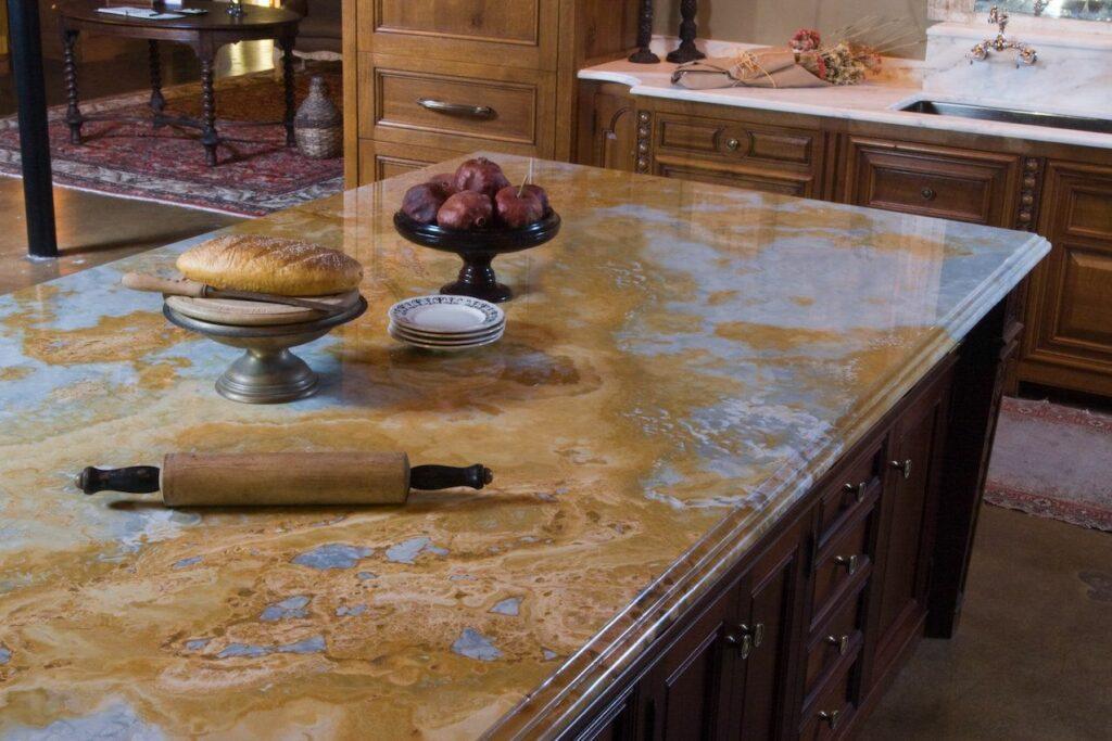 medium granite countertops brown