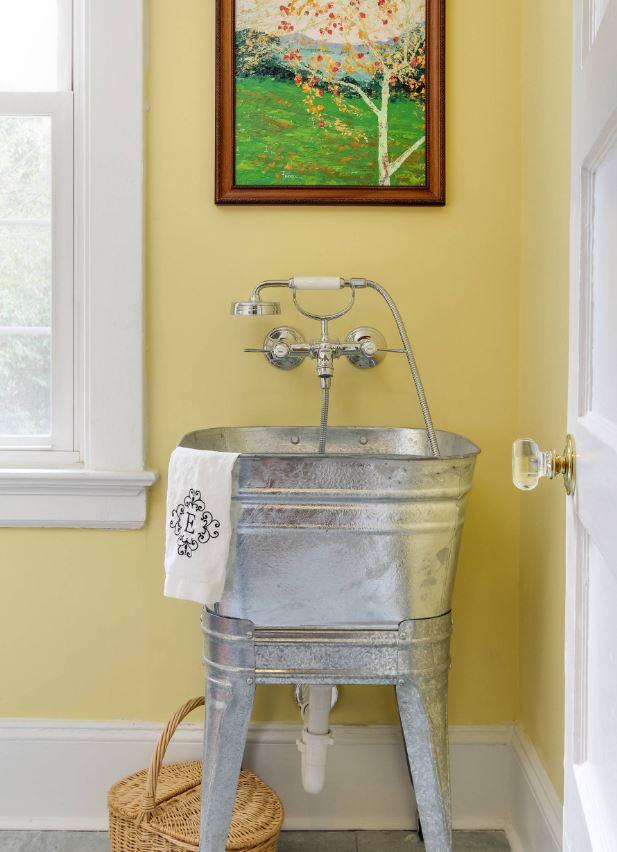 metal sink basin