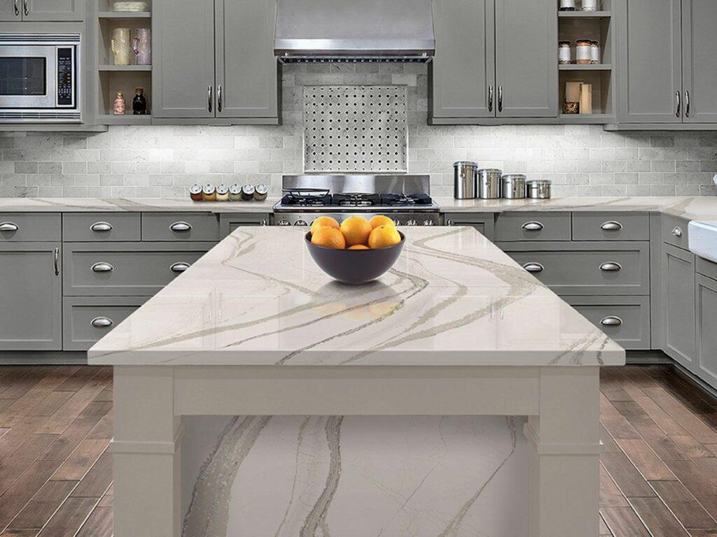 quartz countertops white