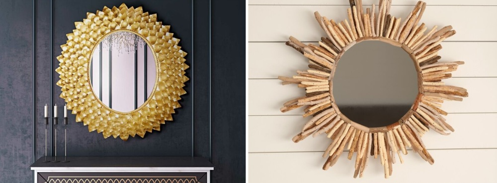 Brighten Your Home And Spruce The Entryway With A Sunburst Mirror