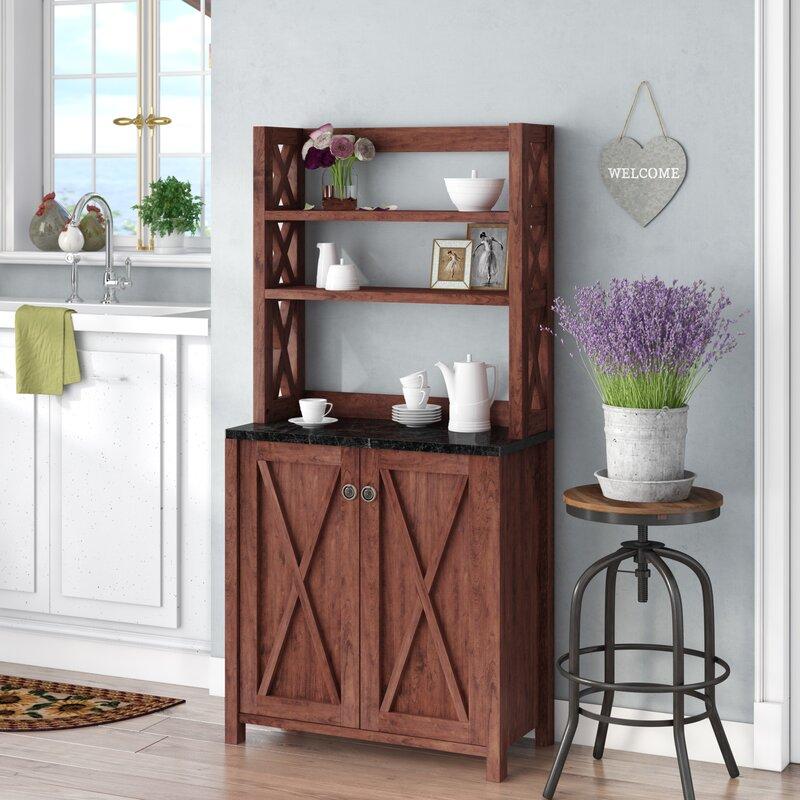 walnut hoosier cabinet gracie oaks