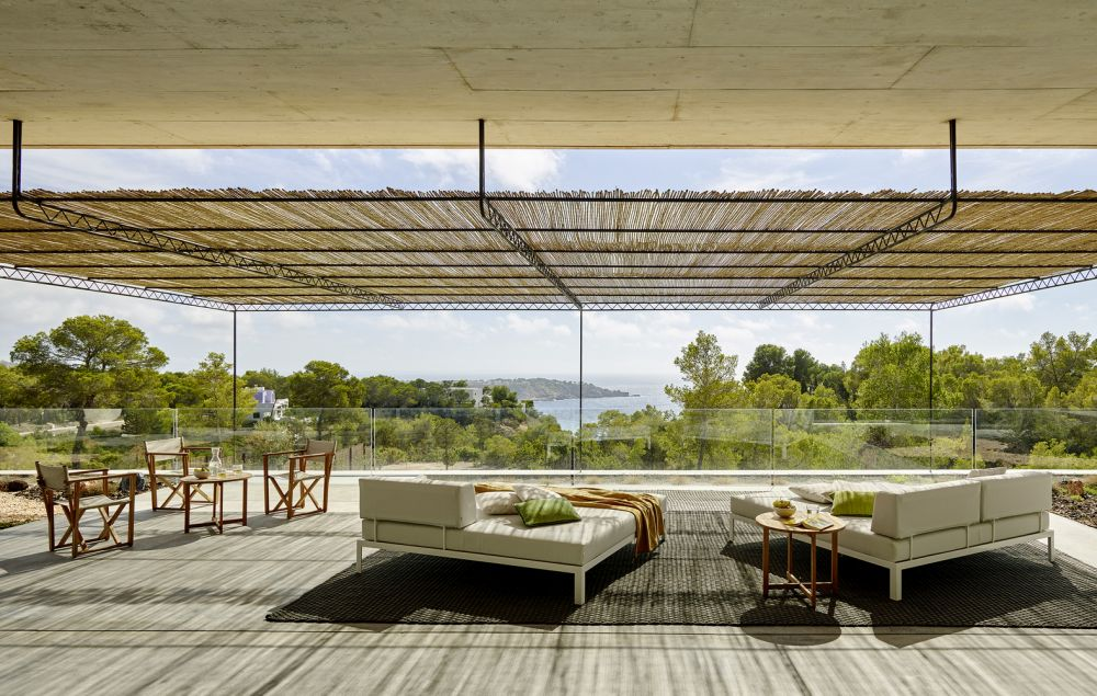 The patios and terraces are open or surrounded by glass railings which allows unobstructed views to the enjoyed from out here