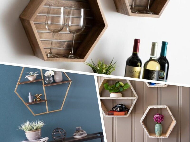Amazing Hexagon Shelf Ideas to Style Your Home Walls