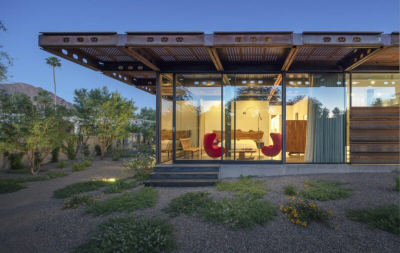 Contemporary Arizona House Mimics The Desert Landscape Through Corten Steel