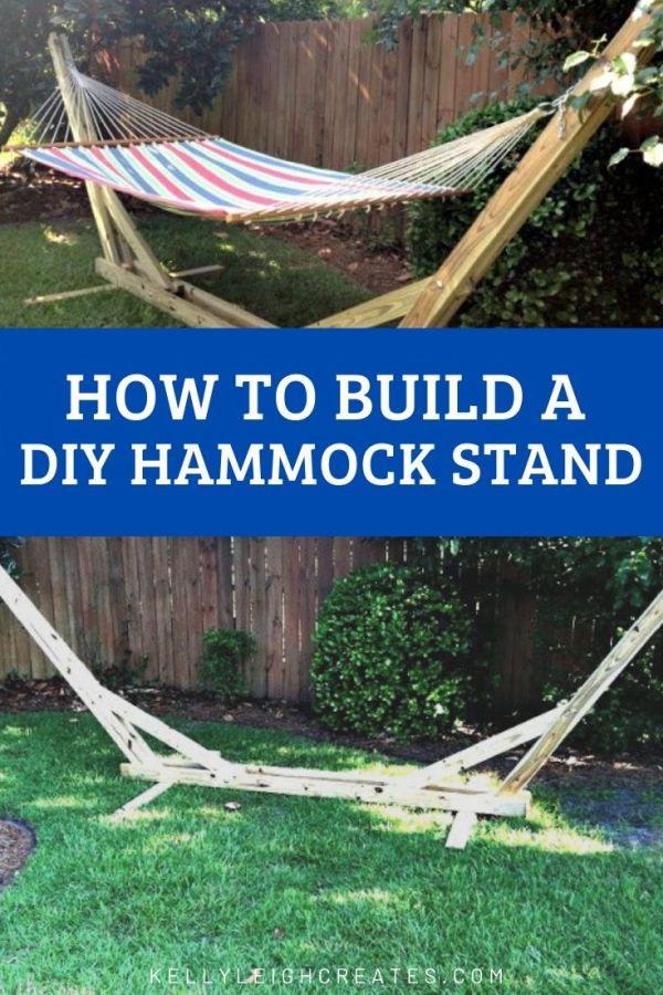 Making a DIY hammock stand