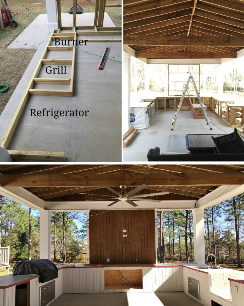 Large Outdoor Kitchen Frame Building process
