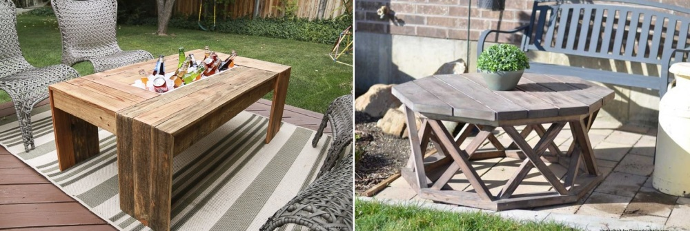 Diy Outdoor Table Ideas With Cool And, Cool Patio Furniture