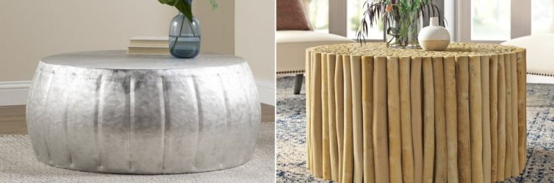 Style Your Living Room with a Drum Coffee Table