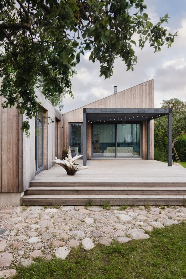 A New Prefab House Modeled After Old Latvian Homes
