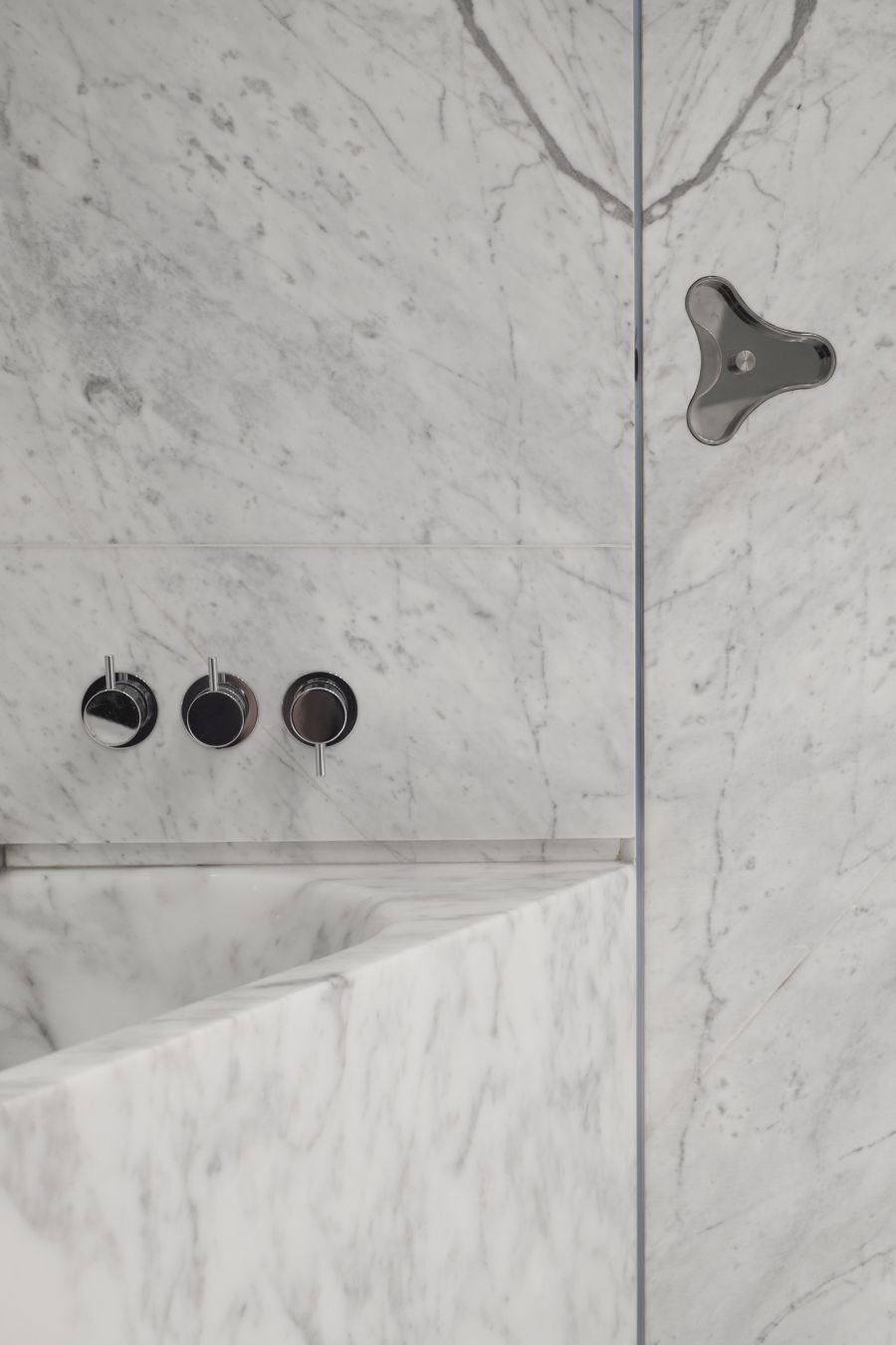 Marble was used extensively throughout the house and adds a refined and timeless feel to the decor
