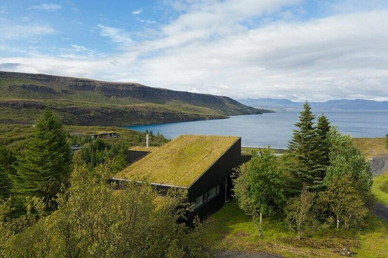 A Gorgeous Lakeside Holiday Home In Iceland Covered In Moss And Grass
