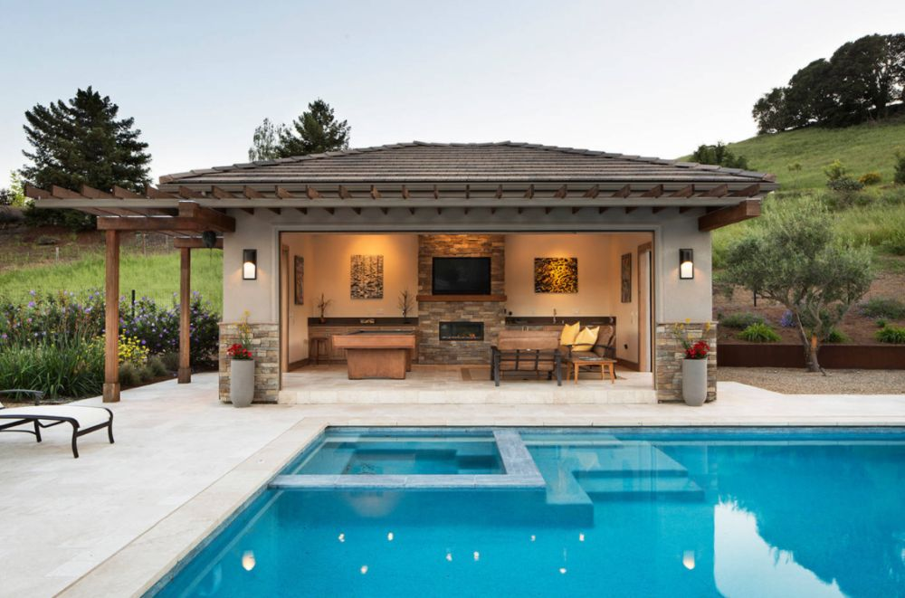 Build a pavilion by the pool