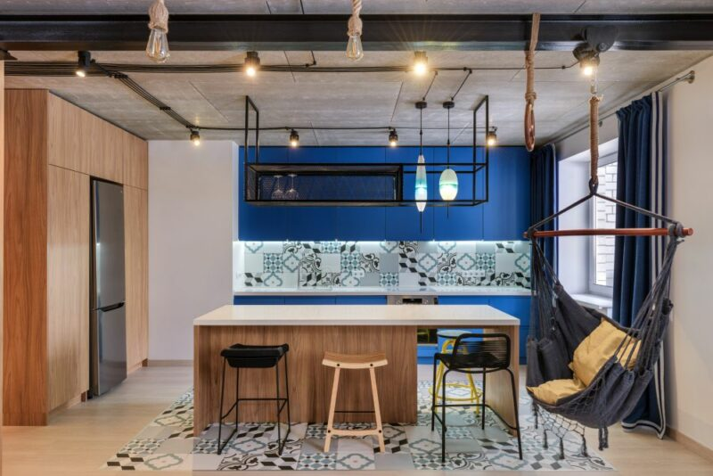Stylish Loft For Two With An Eclectic Design And Lots Of Fun Patterns