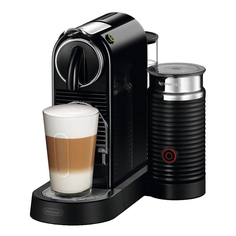 Nespresso CitiZ Coffee and Espresso Machine with Aeroccino Milk Frother by De'Longhi