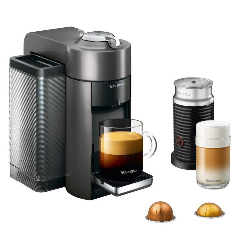 Nespresso Vertuo Coffee & Espresso Machine with Aeroccino Milk Frother by DeLonghi