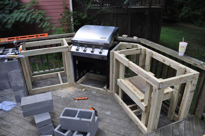 Wood Outdoor Kitchen frame