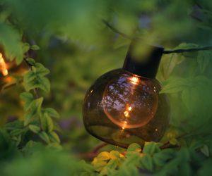 确保使用室外灯泡进行外部固定装置