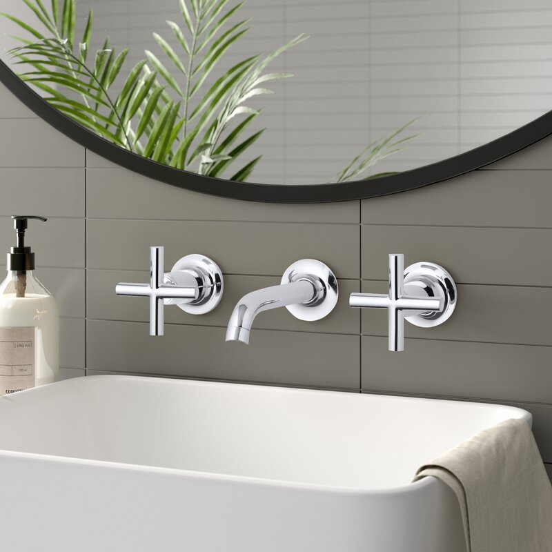 Purist Widespread Wall-Mounted Bathroom Faucet