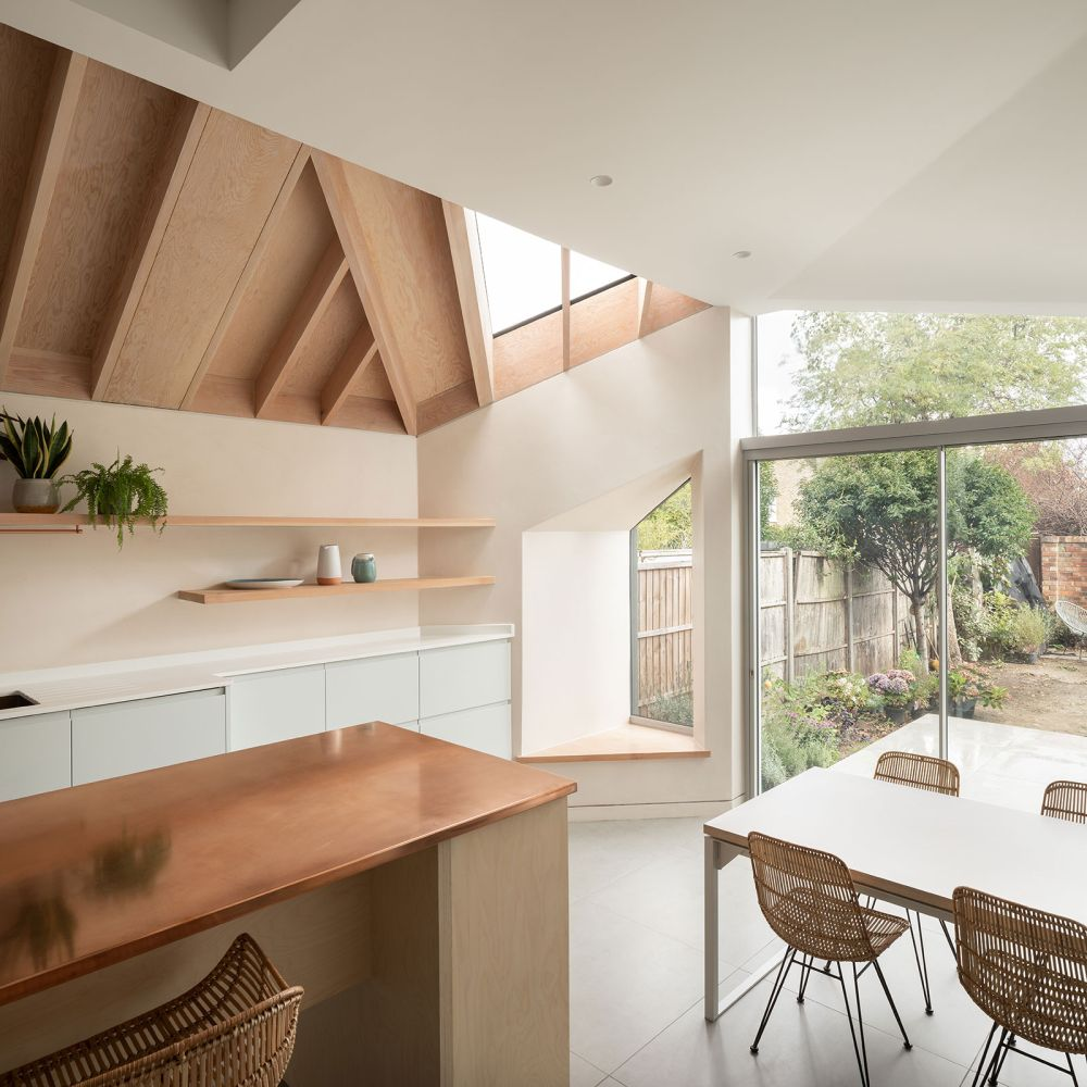 Several custom windows with unusual shapes were integrated into the extension as a way to bring in more sunlight