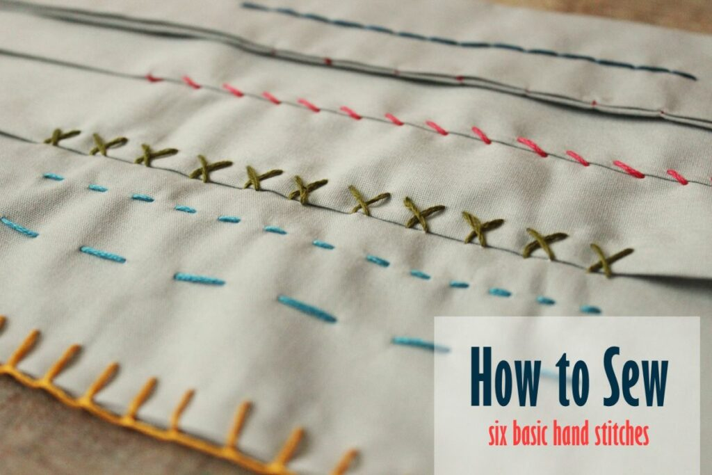 Learning Basic Hand Stitches with a Sewing Kit