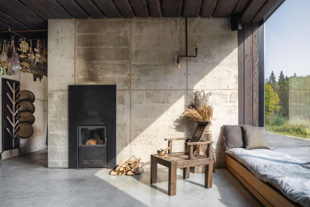 The overall design also placed an emphasis on natural materials and pure finishes