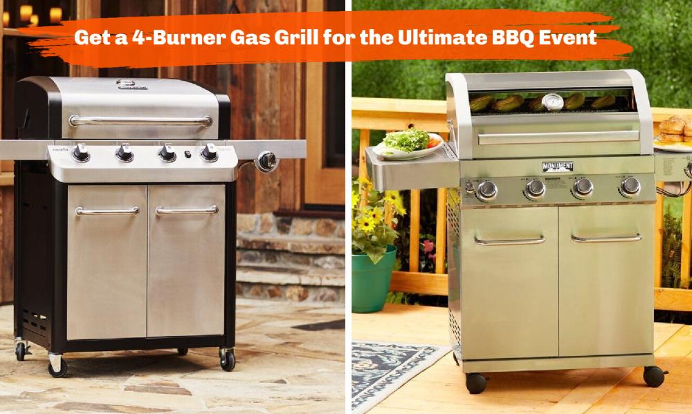 4-Burner Gas Grill
