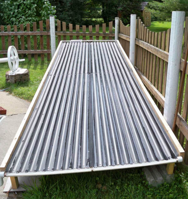 A Unique Open Flow Solar Pool Heating Collector