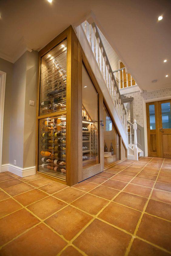 Acrylic and Oak Wine Cellar Acrylic and Oak Wine Room