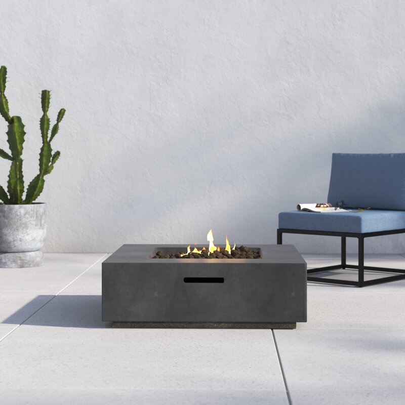 Aly Fiber Reinforced Concrete Propane/Natural Gas Fire pit table