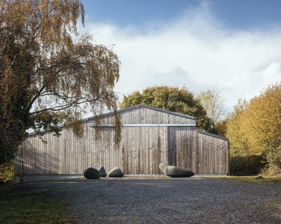 When the large shutters are closed the barn becomes a large sealed box